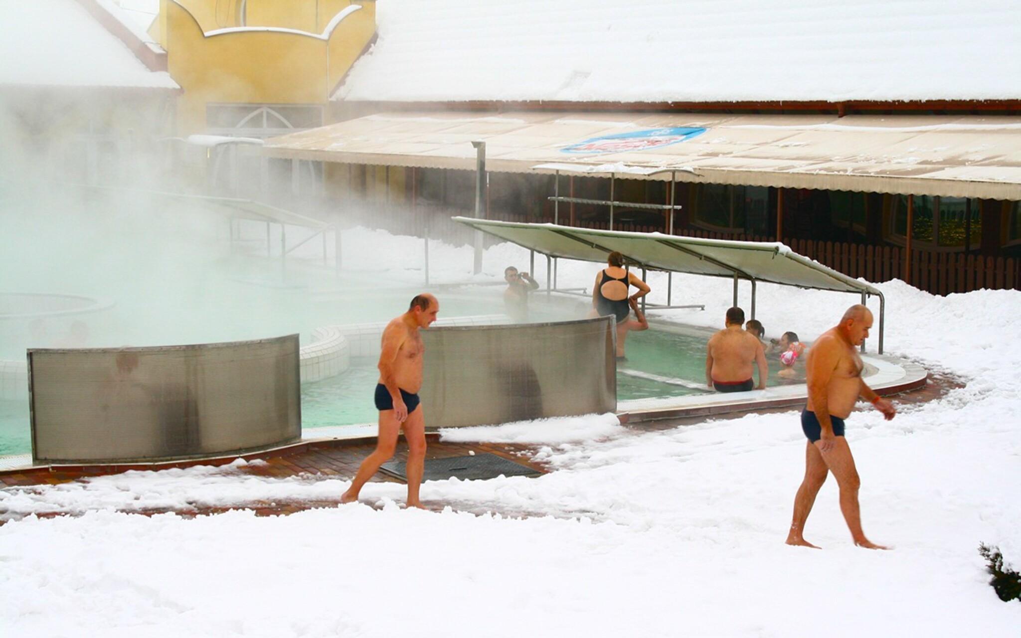 Termální bazén, penzion Margaréta