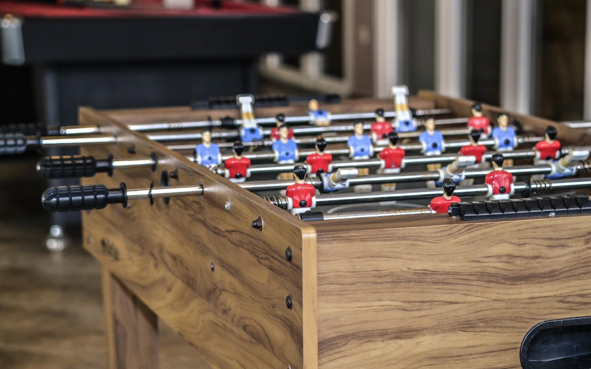 V hotelu si můžete zahrát stolní fotbal