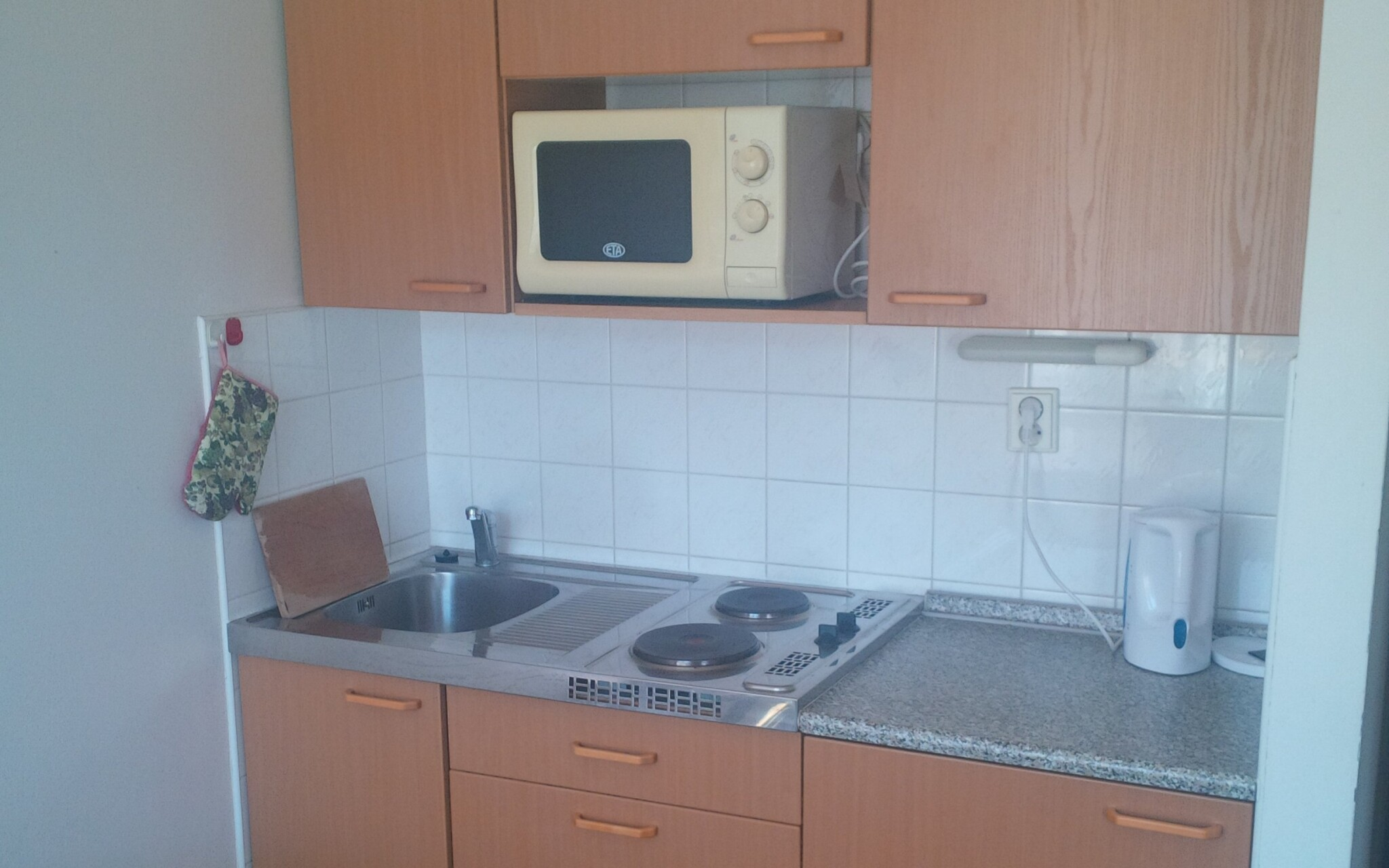 Kuchyňka je plně vybavená
