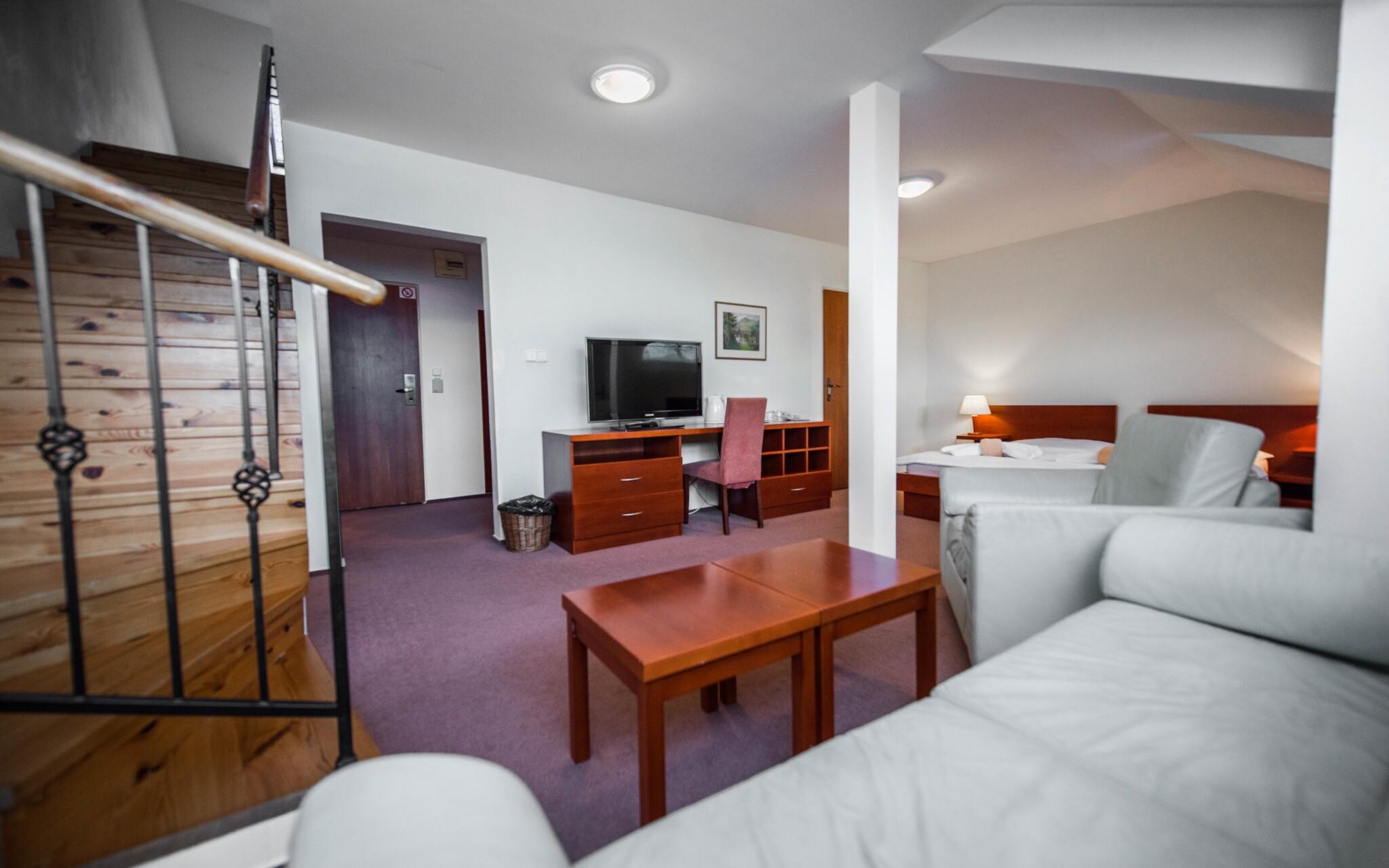 Za príplatok sa ubytujte v priestrannom apartmáne