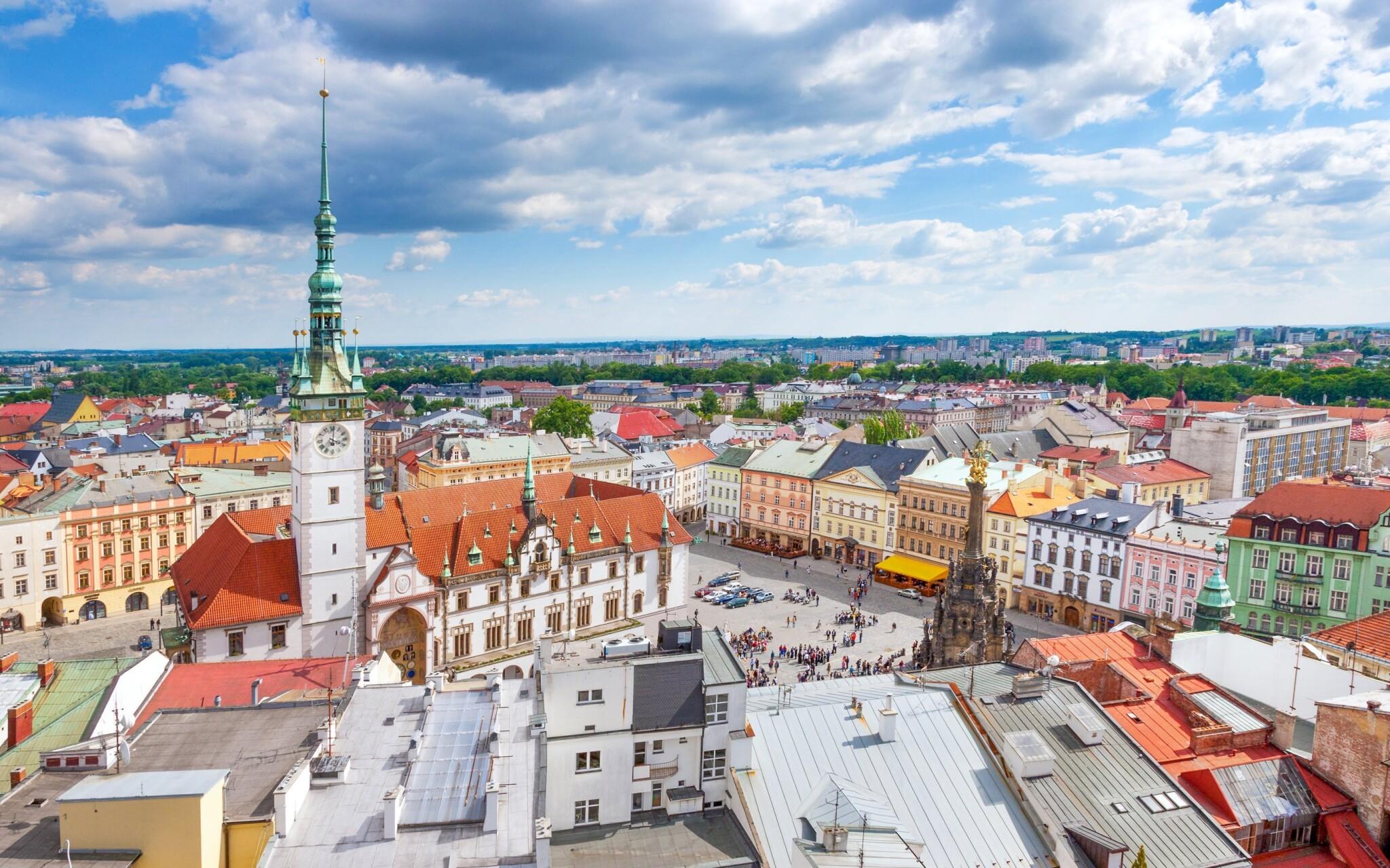 Olomouc je historické město s památkou UNESCO