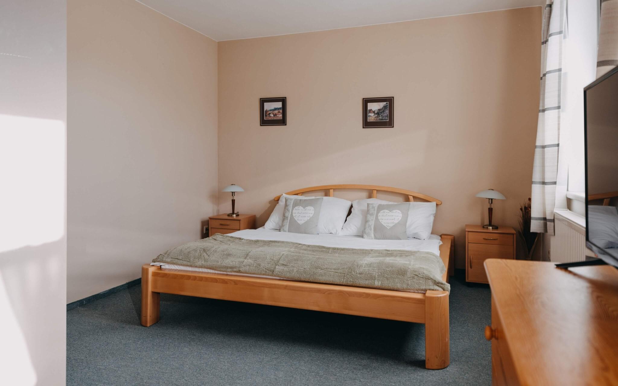 Interiéry apartmánu, Hotel Červený Mlýn Tišnov ***