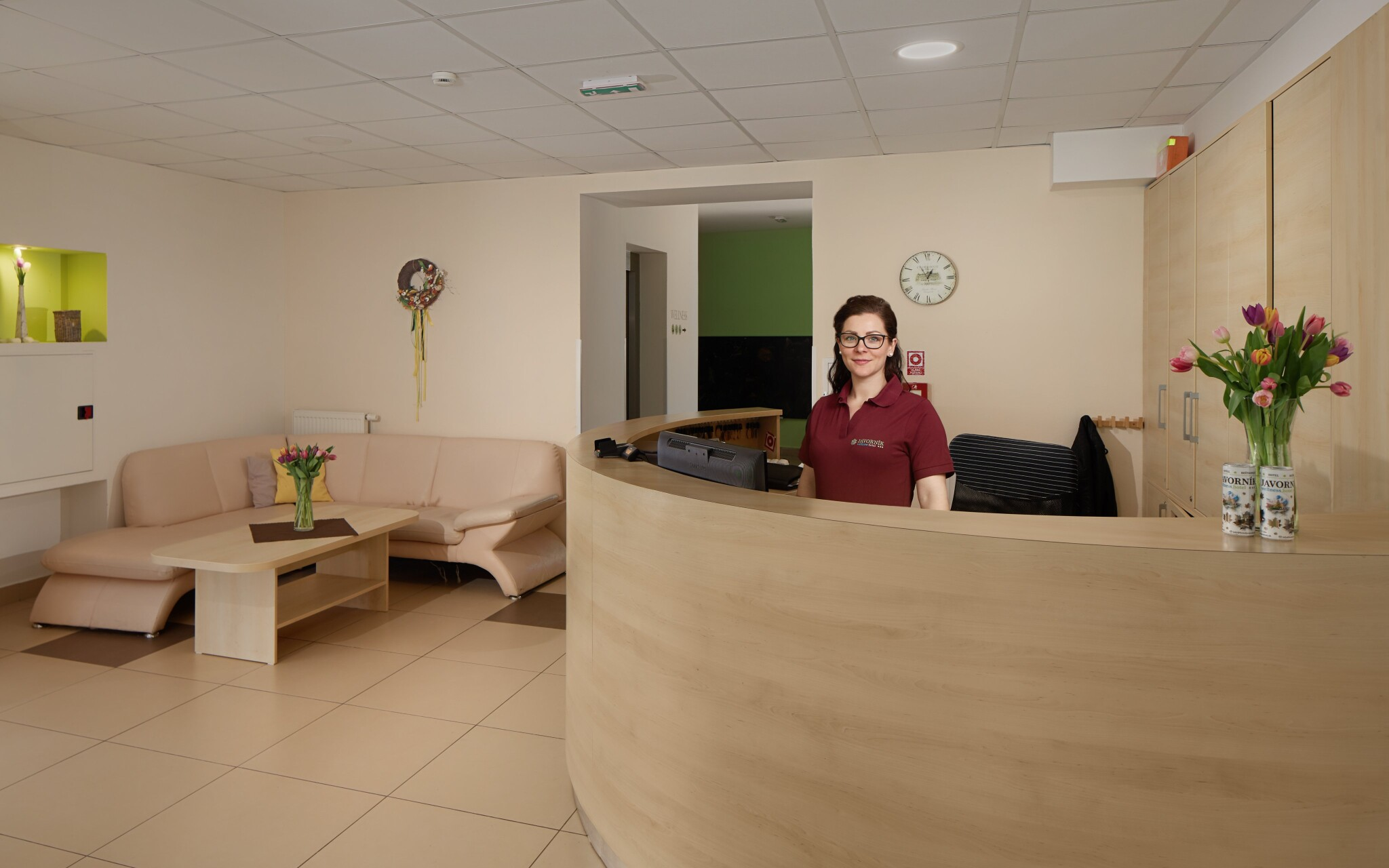 Přivítají vás moderní a svěží interiéry v Hotelu Javorník