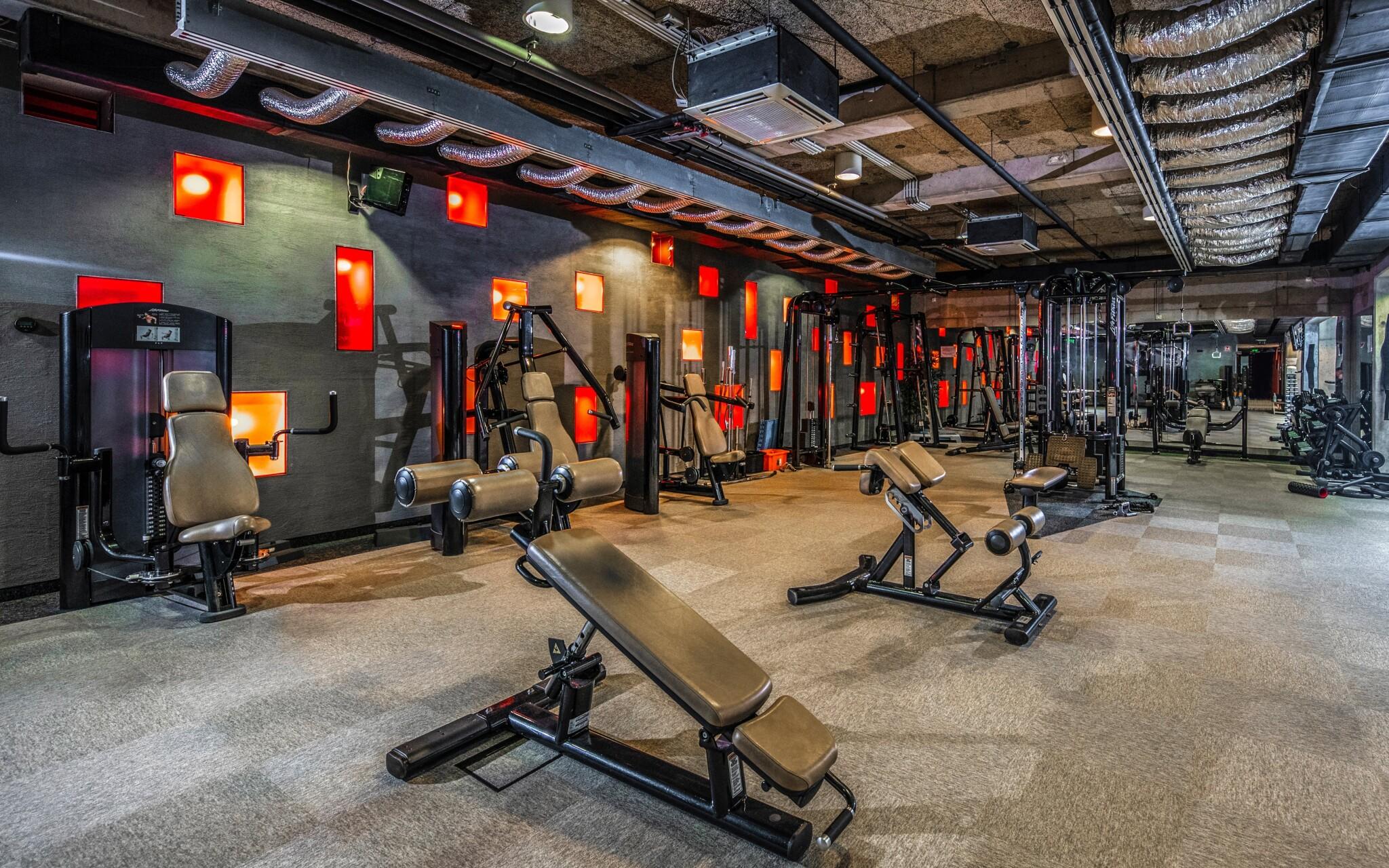 Fitness centrum je bohato vybavené