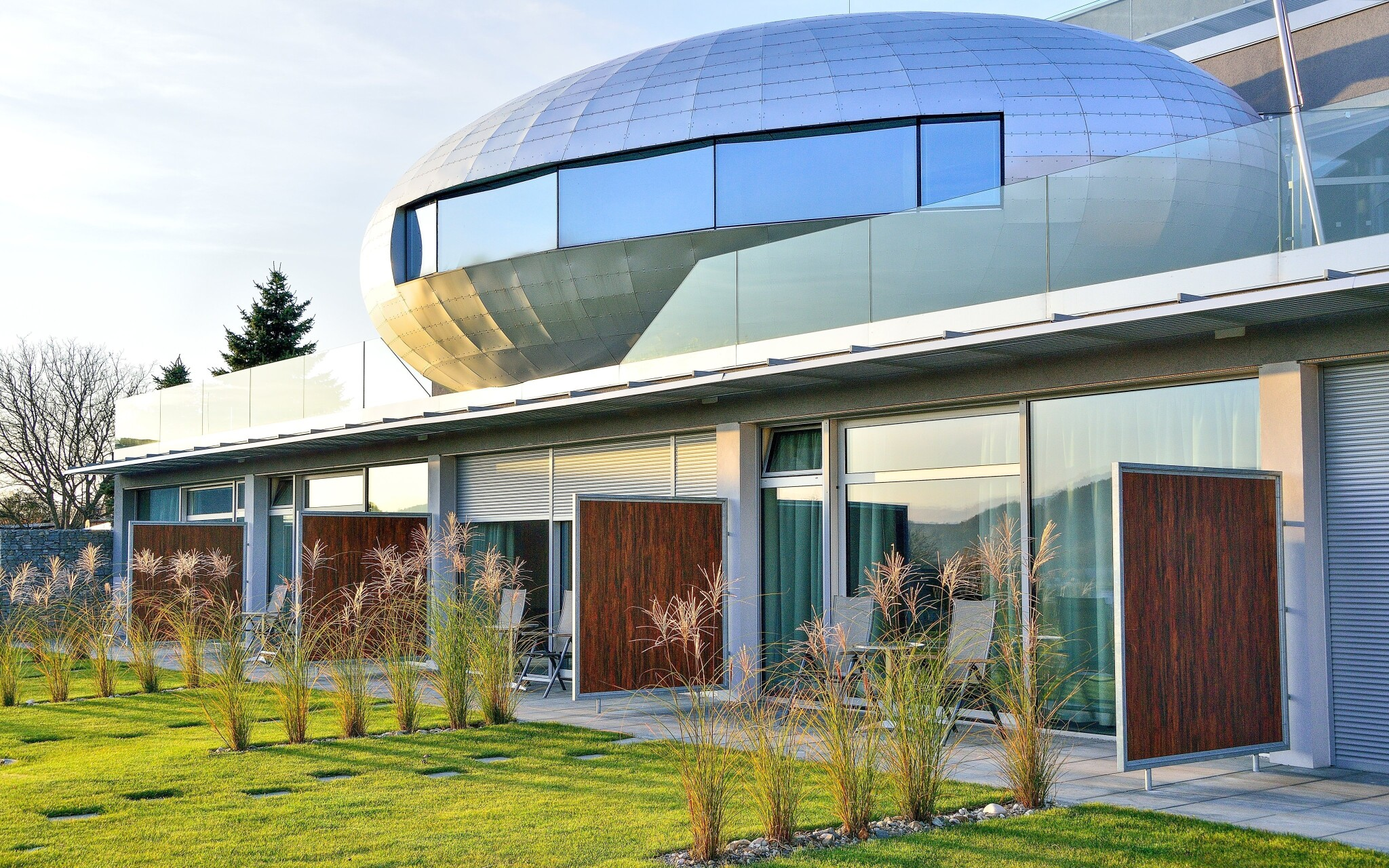 Futuristická architektura designového Hotelu Antonie ****