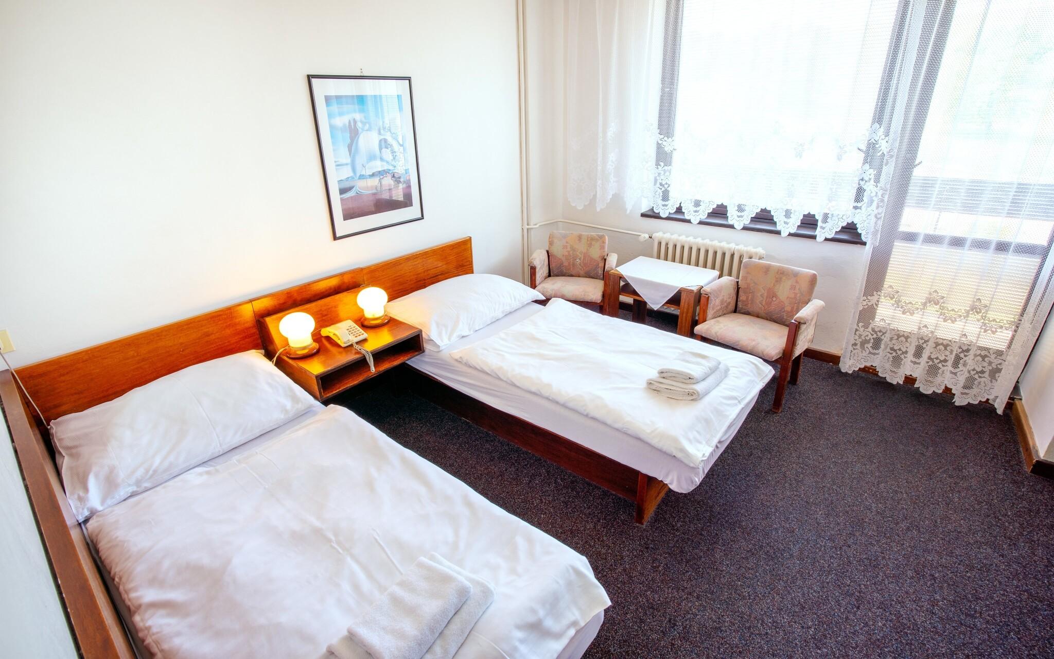 Čekají vás pohodlné pokoje
