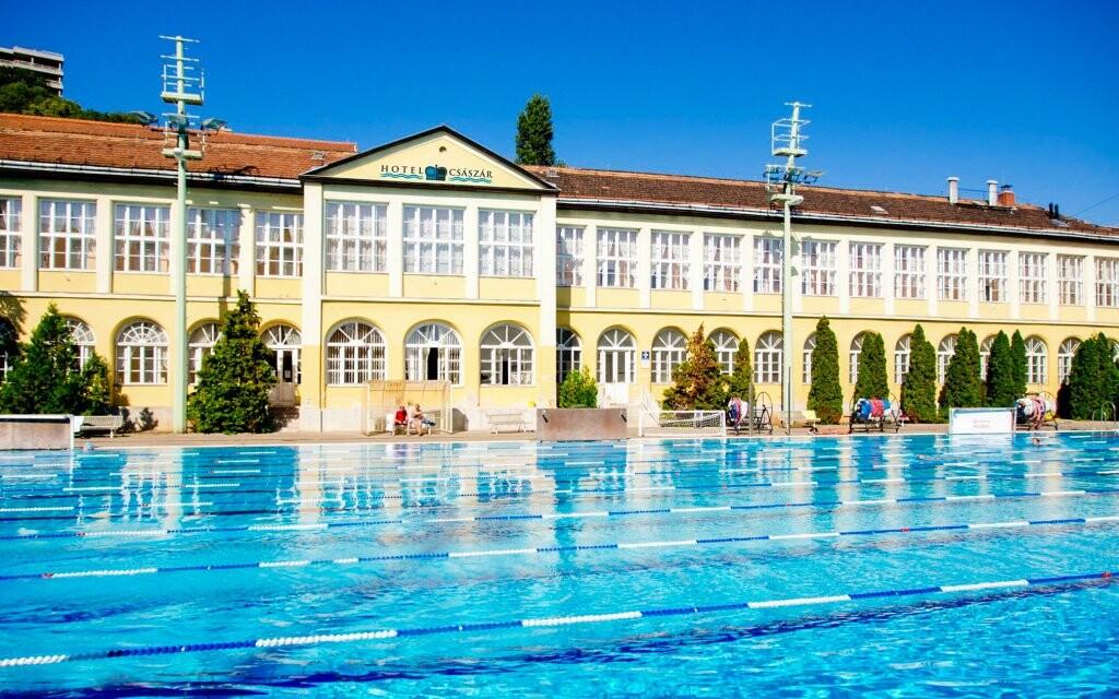 Hotel Császár *** u lázní Veli Bej, Budapešť, Maďarsko