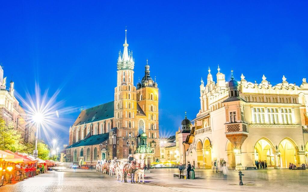 Hlavní náměstí v Krakově patří k nejkrásnějším v celé Evropě