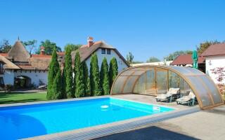 Venkovní bazén, Penzion Žitava, jižní Slovensko
