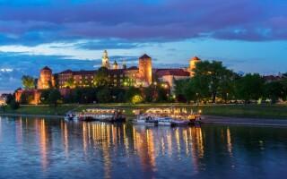 Hrad Wawel, historické centrum Krakov Polsko