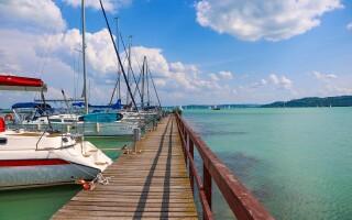 Jezero Balaton poskytuje nádherné scenérie