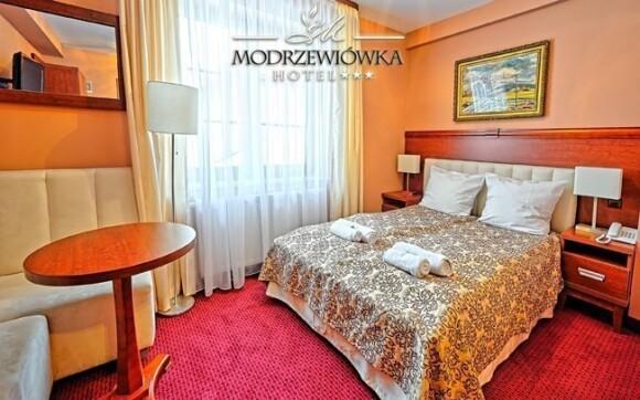 Téměř královsky zařízené pokoje hotelu Modrzewiówka ***