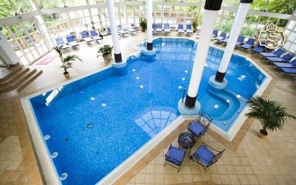 Těšit se můžete na vnitřní hotelový bazén s odpočinkovou zónou