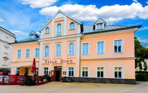 Hotel Villa Dino *** najdete přímo v centru Mariánských Lázní