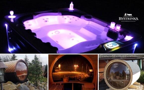 Užijte si vířivku i dvě designové sauny