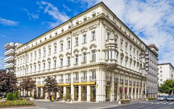 Luxusný hotel Rába nájdete v centre mesta Györ