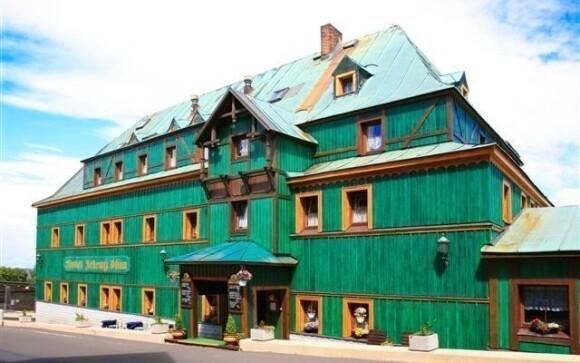 Hotel Zelený Dům leží v nejvýše položeném horském městečku
