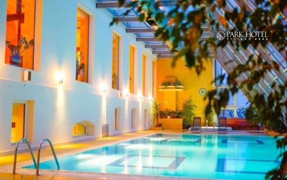 Prostorné wellness centrum přímo v hotelu láká k relaxaci