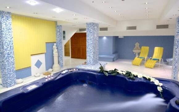Hotel disponuje moderně zařízeným wellness centrem