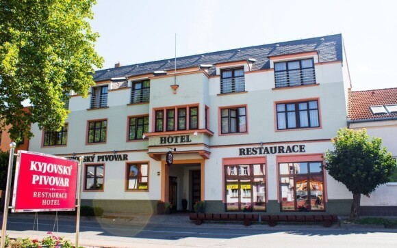 Hotel je súčasťou miestneho Kyjovského pivovaru