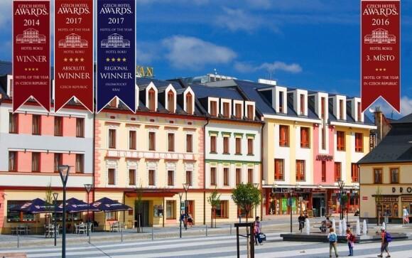 Oceněný Hotel Slovan **** najdete přímo ve středu Jeseníku