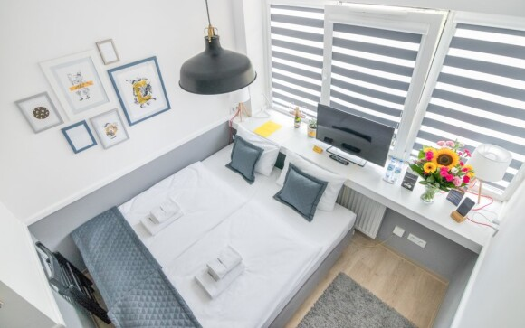 Parádne ubytovanie v apartmáne s kuchynkou v Corner Hoteli