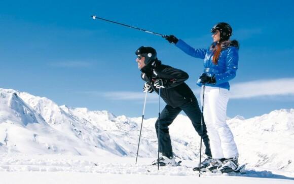 V rakouských Alpách je spousta možností lyžování