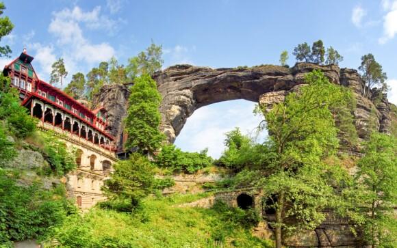 Pravčická brána, České Švajčiarsko, najväčší kamenný oblúk