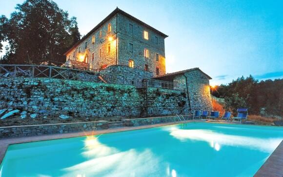 Hotel Villa Casalta s vonkajším bazénom Toskánsko Taliansko