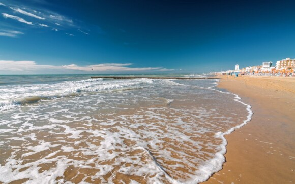 Lido di Jesolo, pláž, dovolená v Itálii