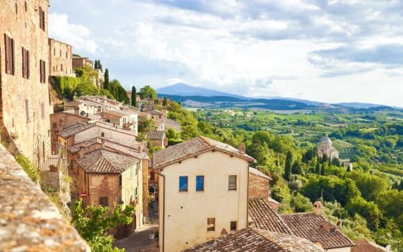 Historické mesto Montepulciano, Toskánsko, Taliansko
