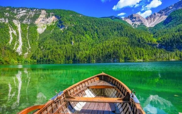 Národný park Adamello, Dolomity, Taliansko, príroda, jazero