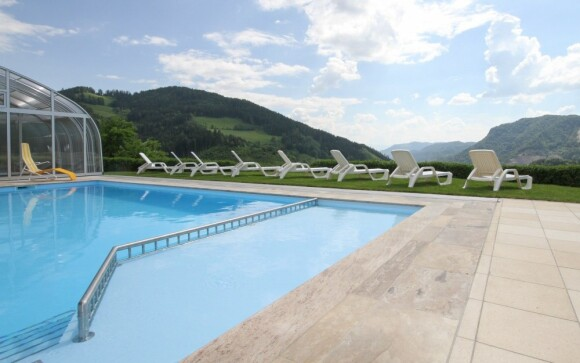 Venkovní krytý bazén, Panoramadorf Saualpe ***