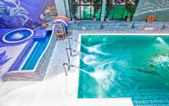 Bazén v aquaparku v Hotelu Klimek **** SPA