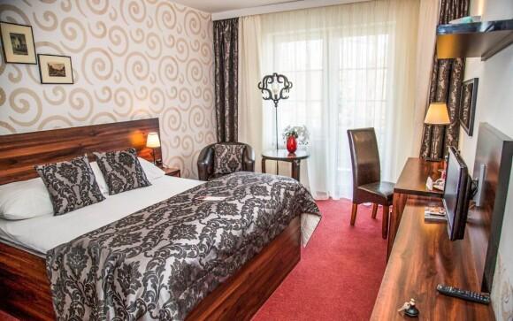 Luxusná izba a pohodlná posteľ, Parkhotel Morris Nový Bor