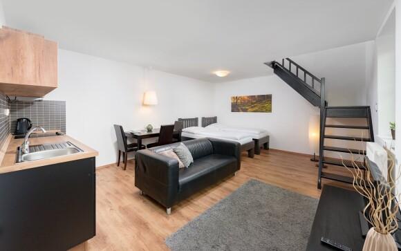 Ubytujete sa v moderných apartmánoch až pre 4 osoby