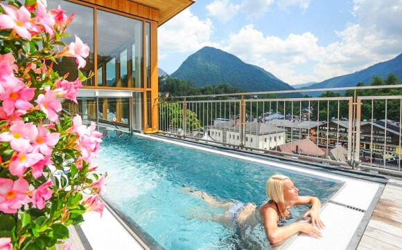 Dopřejte si neomezené wellness s výhledem na Alpy
