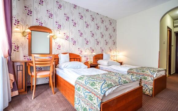 Pokoj s vlastní koupelnou v Hotelu Erzsébet *** Maďarsko