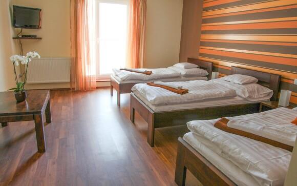 Ubytovaní budete v priestranných izbách v Penzióne Mlyn