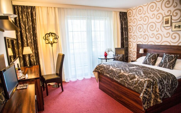 Luxusní pokoj a pohodlná postel, Parkhotel Morris Nový Bor