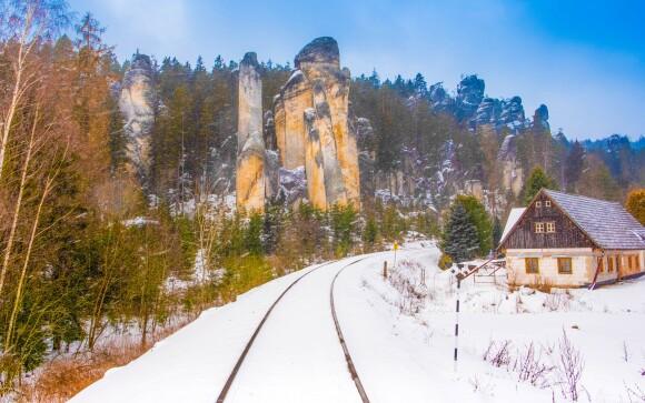 Zima v Adršpachu je skutočne čarovná