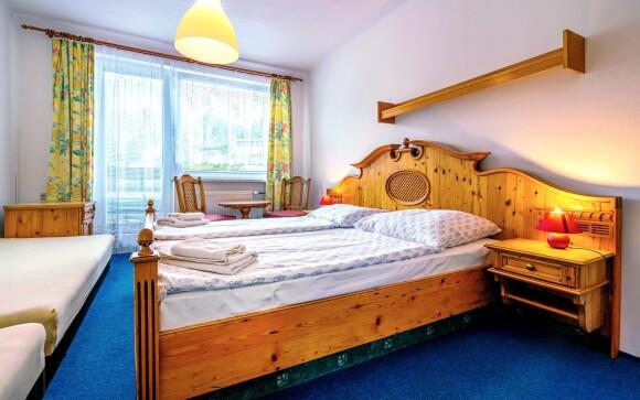 Pokoje, interiéry, Hotel Kolibřík na Šumavě