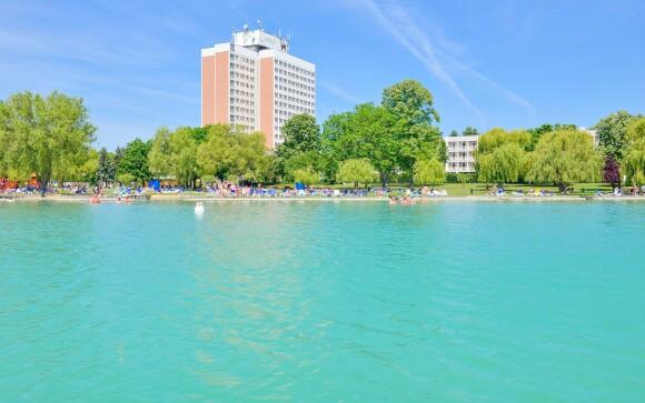 Danubius Hotel Marina, Balatonfüred, Balaton, jezero, pláž
