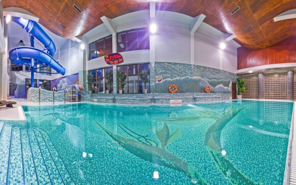 Bazén s tryskami, aquapark Hotel Klimek **** SPA Polsko