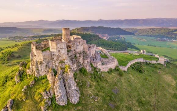 Výhľad na Spišský hrad priamo z Penziónu Podzámok