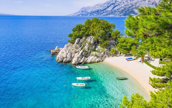 Pláž, more, Karlobag, Chorvátsko