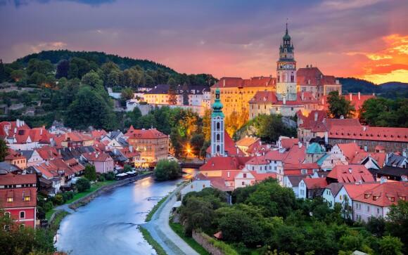 Český Krumlov, součást Seznamu UNESCO