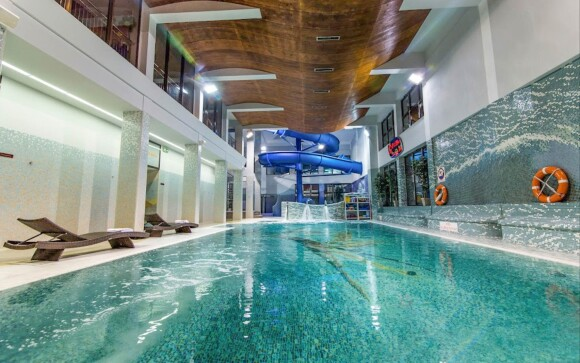Bazén s tryskami, aquapark Hotel Klimek **** SPA Poľsko