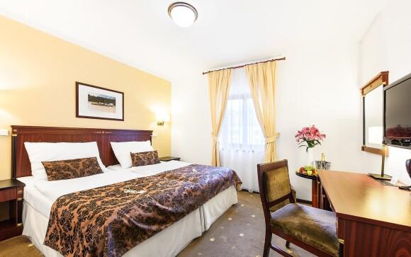 Interiéry pokojů, Hotel U Černého orla ****, Třebíč
