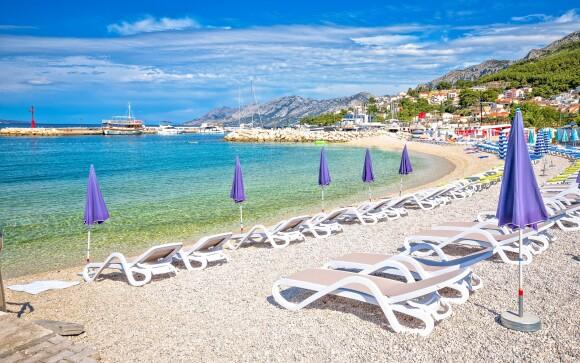 Krásné pláže a moře, Baška Voda, Chorvatsko